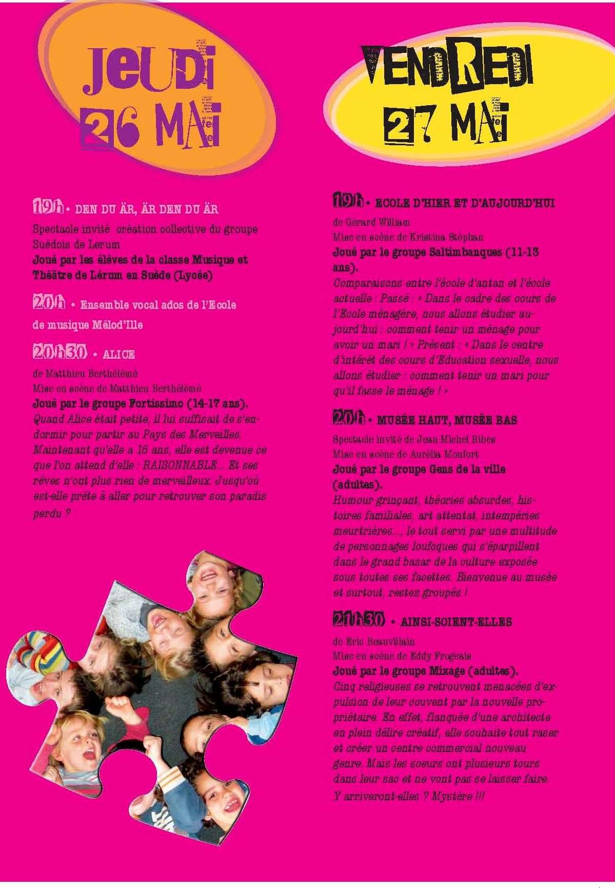 Programme Festambul 2011 jeudi 26 vendredi 27