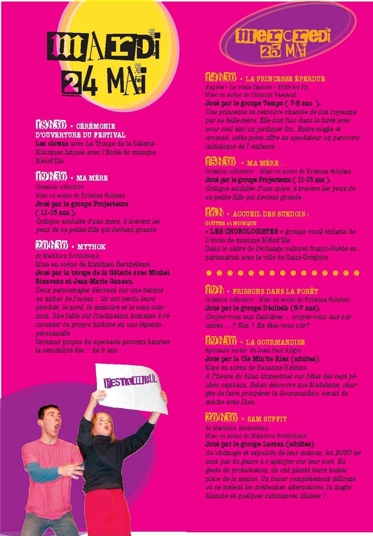 Programme Festambul 2011 mardi 24  mercredi 25